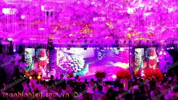 Màn hình Led nhà hàng tiệc cưới The Adora _2016
