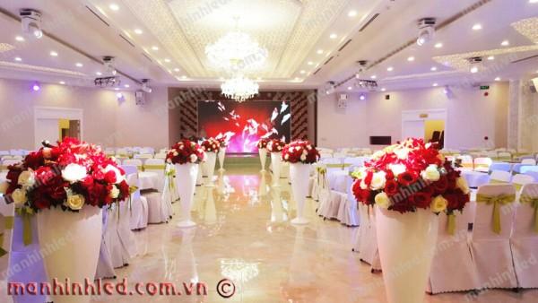 Màn hình Led nhà hàng tiệc cưới Queen Palace- Đà Nẵng